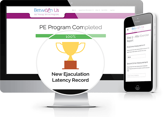 A picture of the PE Program, an online exercise program for treatment of premature ejaculation