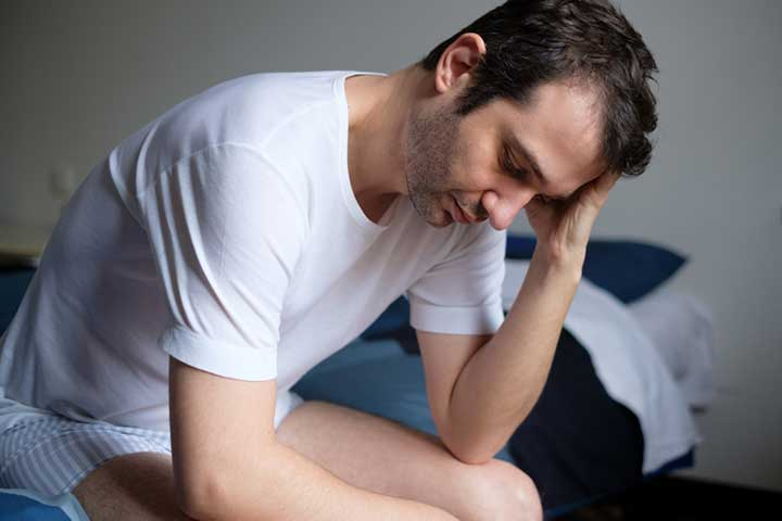 a man depressed by his erectile dysfunction that might be caused by masturbation