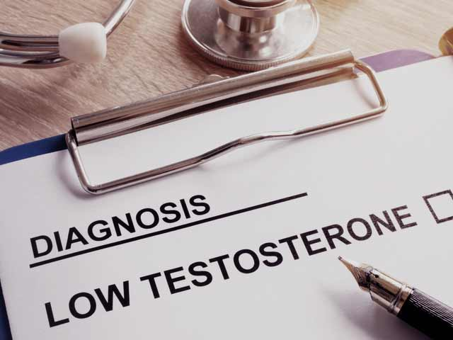 a diagnosis sheet for low testosterone in men